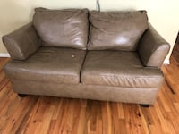 Brown faux leather 2-seat sofa Boulder, 80305