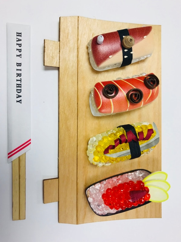 four assorted sushi