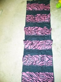 black, pink, and white floral textile 2355 mi