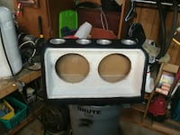 black and white subwoofer box