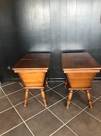Hickory end tables