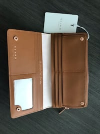 TED BAKER Fenelle Textured Poppered Matinee Leather Wallet