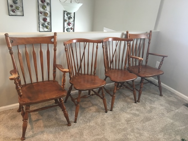 4 Vintage Ethan Allen Dining Chairs