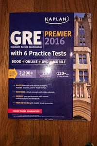 Kaplan GRE with 6 Practice Tests with DVD Lorton, 22079