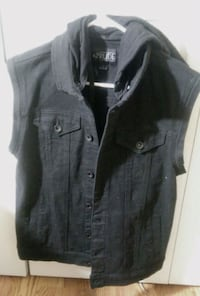 Hot Topic black denim men small jacket 24 km