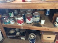 Assorted  15+/-  gal cans of used paint and 25+/- of smaller cans of new & used   Gilbert, 85295