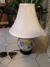 small console table lamp