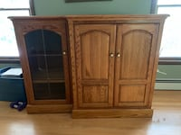 SOLID OAK entertainment center. Campbell Hall, 10941