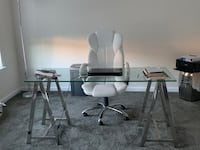 Glass office desk and white chair  Waldorf, 20601
