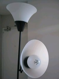 white and black torchiere lamp Arlington, 22202