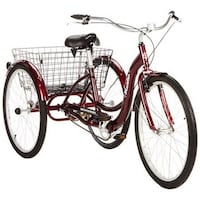 "26"" Schwinn Adult Tricycle, Cherry Bike 3 Wheel Bell Gardens"
