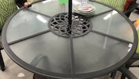 New Round Glass Patio Table