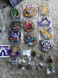 Funko Patches and Pins Lot