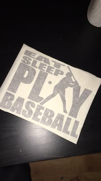 Eat Sleep Play Baseball printed paper Cavan-Millbrook-North Monaghan, K0L