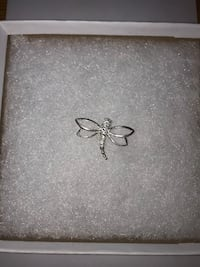 Diamond and Silver Dragonfly Necklace Pendant Hooksett, 03106