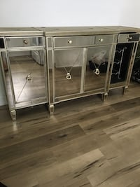 Z gallery mirrored buffet cabinet