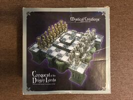 Mystical Creations Conquest of the Dragon Lords Deluxe Chess Set