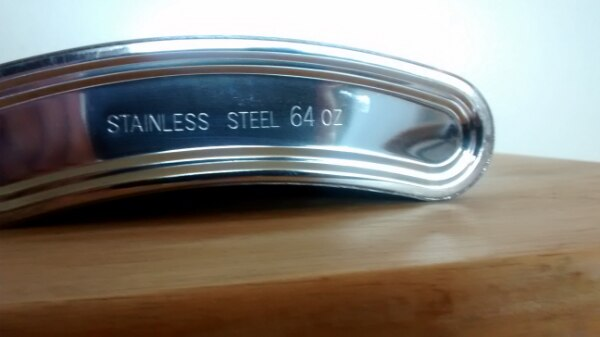 Giant Stainless Steel Hip Flask. 1.9 liters