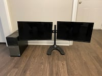 Dell Desktop, Monitors and Stand, Keyboard