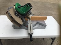 """Hitachi 10"""" compound with slide miter 60 tooth carbide blade included ! Holly, 48442"""