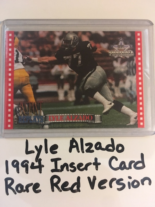 on sale 25997 97e2f Lyle Alzado Yankton College Greyhounds Oakland Raiders All Pro DE 1994  Short Print Red Parallel Insert Card