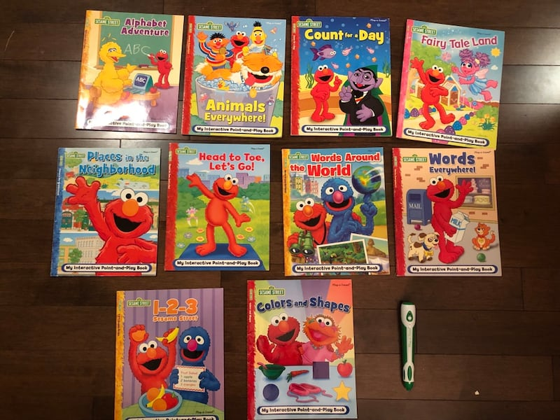 10 sesame Street interactive Point-and-Play Books with e-pen 04ae12e1-cd10-4bb0-b5a1-954672dbb81e