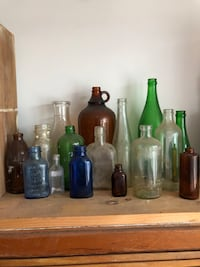 assorted color glass bottles lot Chesapeake, 23322