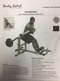 Ab/ Low Back bench Body-Solid Reston