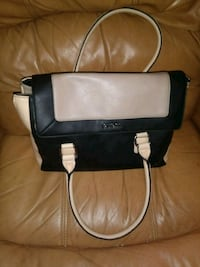 black and white leather crossbody bag Phoenix, 85032