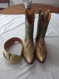 Mens Boots and Belt