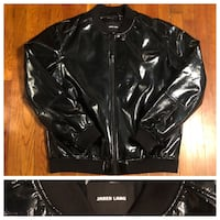 Men's Jared Lang paid $600 size XXL (fits like XL) Patent Leather Bomber jacket. Excellent condition never worn! Great jacket