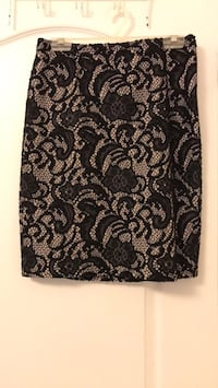 Ann Taylor black lace pencil skirt