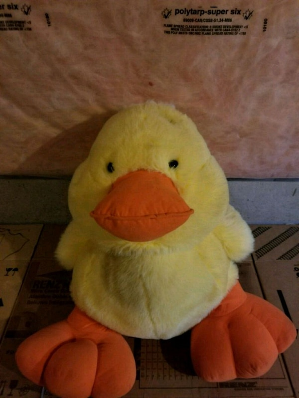 Used yellow and orange duck plush toy for sale in Bradford West ...