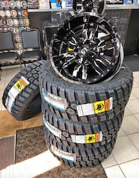 "20"" Fuel Sledge Wheels with 33x12.50R20 M/T tires! Finance $0-$50 down"