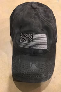 Navy blue American flag hat.  Bothell, 98012