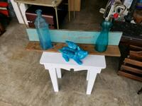 white and blue wooden table Bethany, 73008