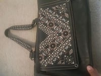 black and gray leather crossbody bag (gun purse) Houston, 77066