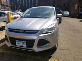 gray Ford 5-door hatchback