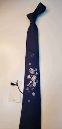 Navy blue tie with DIAMOND images