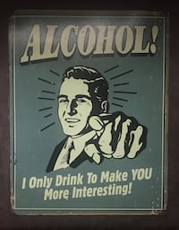 "Metal ""Vintage"" Bar Sign"