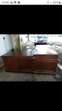 Kimball L-shaped presidential office desk