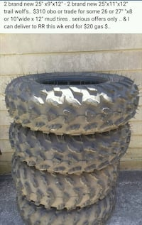 "Brand NEW atv tires with Can am  12"" rims !!!"