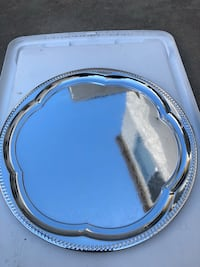 white and blue wooden framed mirror Buena Park, 90621