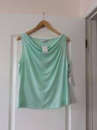 Teal scoop neck sleeveless tank top