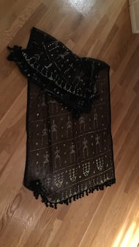 Black shawl / scarf handcrafted in Egyptian oasis