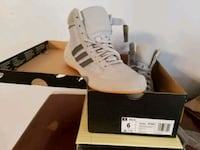 pair of grey Adidas wrestling shoes  441 mi