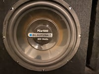 BlauPunkt Subwoover Speakers and Power Acoustik LT720/4 Amp