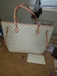 Damier Azur Louis Vuitton leather tote bag and wallet Redwood City, 94061