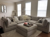 Off White Sectional Couch  Ashburn