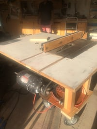 Custom home builder tablesaw runs great true with detachable router